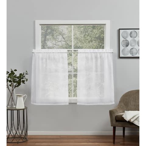 ATI Home Belgian Sheer Rod Pocket Tier Curtain Panel Pair