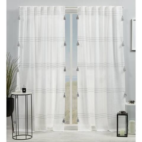 ATI Home Demi Light Filtering Hidden Tab Top Curtain Panel Pair