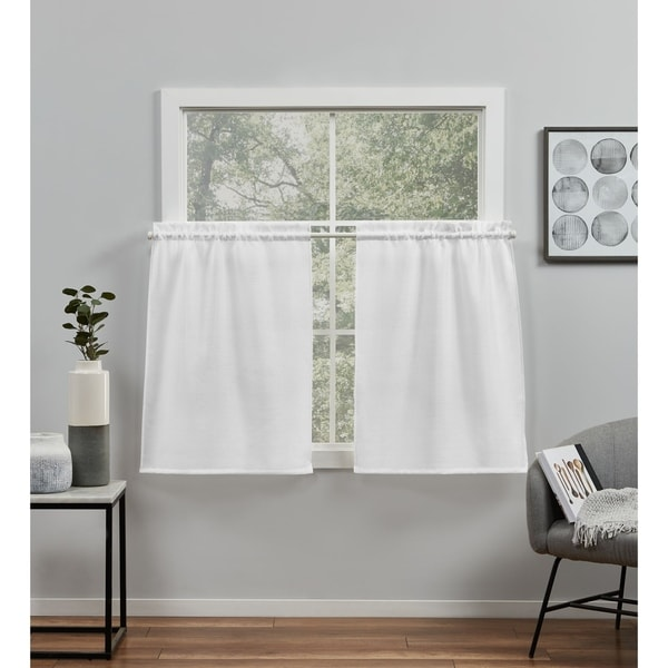 ATI Home Loha Light Filtering Rod Pocket Tier Curtain Panel Pair
