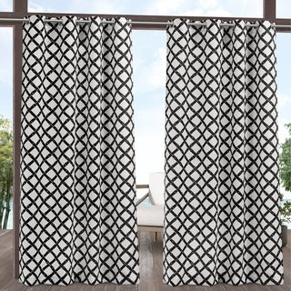 Link to ATI Home Bamboo Trellis Indoor/Outdoor Grommet Top Curtain Panel Pair Similar Items in Outdoor Decor
