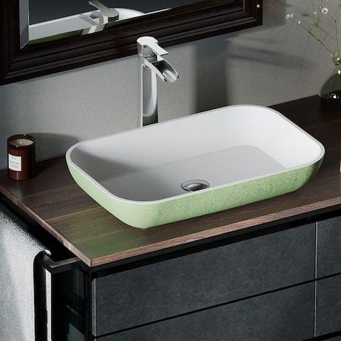 AB230 PolyStone Rectangle Vessel Sink