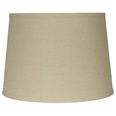 French Drum Lamp Shade,Textured Linen, 10 inch Top, 12 inch Bottom, 8.5 inch Slant