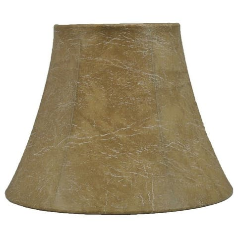 """Faux Leather Bell Lampshade, 9"""" to 16"""" Bottom Size"""