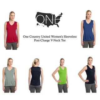 Link to One Country United Women's Sleeveless Posi-Charge V-Neck Tee Similar Items in Men's Athletic Clothing