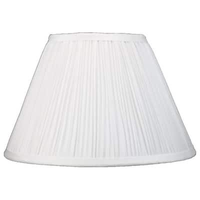 Faux Silk Mushroom Pleated Lamp Shade, 8 inch Top, 16 inch Bottom, 10 inch Slant