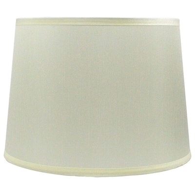 French Drum Lamp Shade, 12 inch Top, 14 inch Bottom, 10 inch Slant