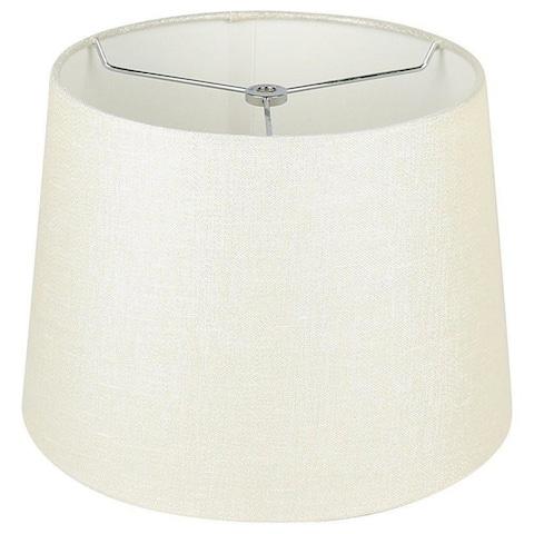 "French Drum Metallic Fabric Lamp Shade, 12"" to 14"" Bottom Size"