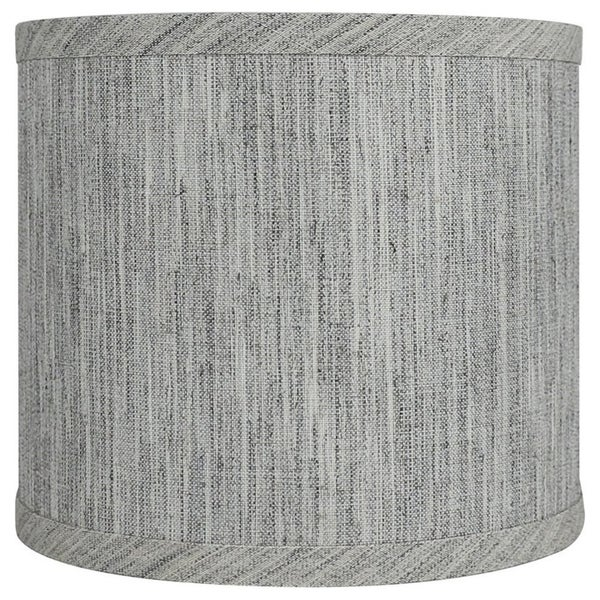 "Classic Drum Smooth Linen Lamp Shade, 8"" to 16"" Bottom Size. Opens flyout."