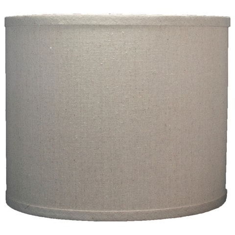 "Classic Drum Linen Lamp Shade, 8"" to 16"" Bottom Size"