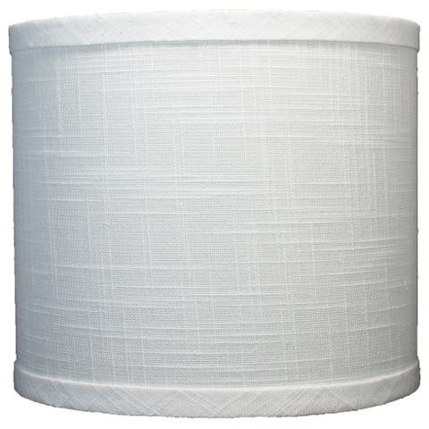 """Classic Drum Linen Lamp Shade, 8"""" to 16"""" Bottom Size"""