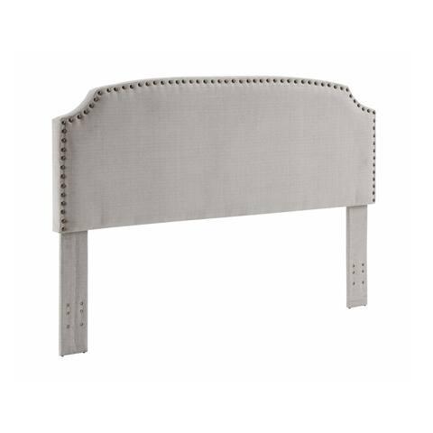 Best Master Furniture Adjustable Contemporary Fabric Headboard