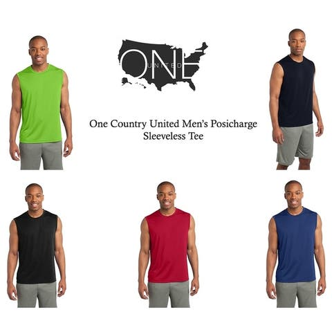 One Country United Men's Sleeveless PosiChargeTee