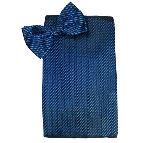Mens Core Solid Bow Tie with Pocket Square Magenta Adjustable Pre-tied bow ties