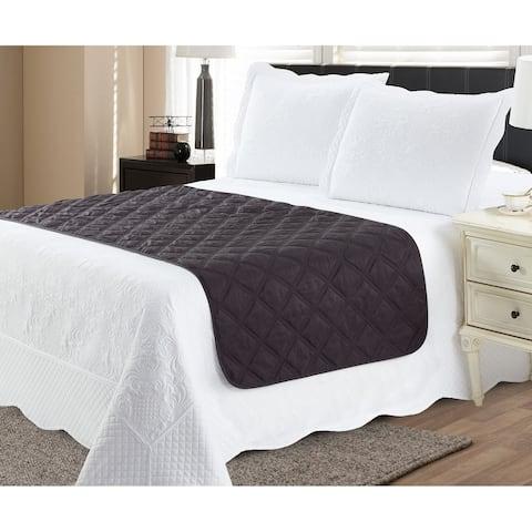 Bed Runner Protector Black Grey - Full / Queen