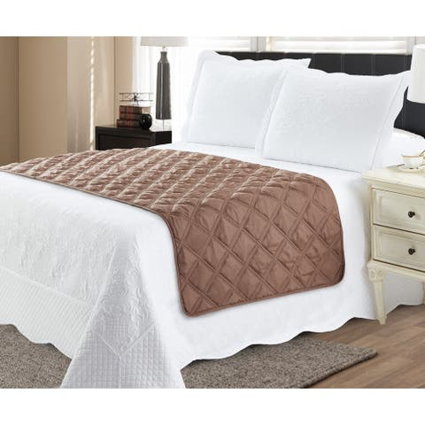 Bed Runner Protector Taupe Beige - King