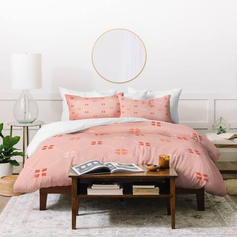 Deny Designs Portugal Heart and Flower Tile Duvet Cover Set