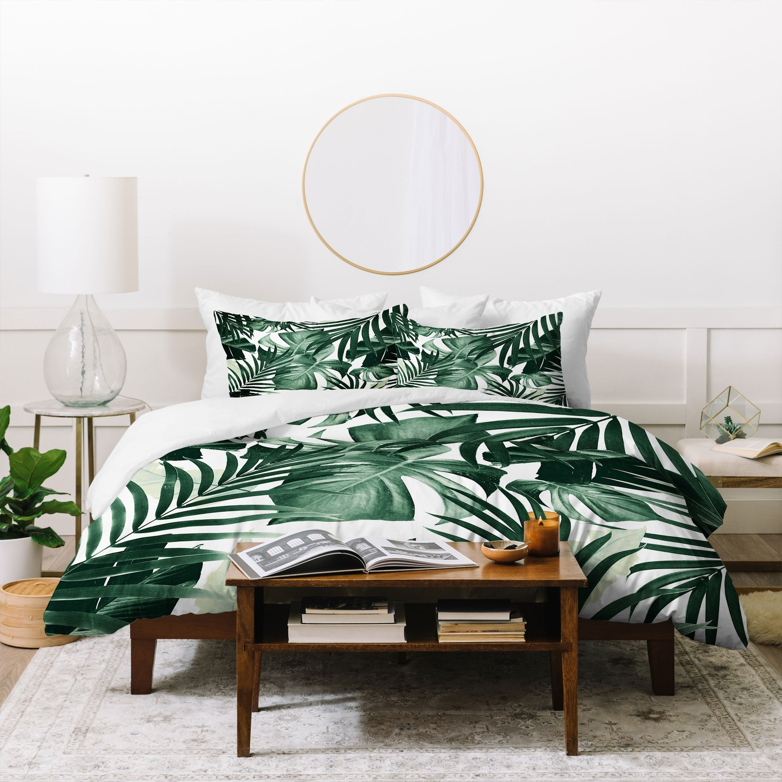Carson Carrington Lungsnas Tropical Jungle Leaves Duvet Cover Set On Sale Overstock 30786717