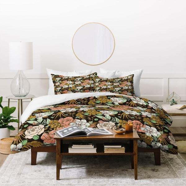 Deny Designs Vintage Exotic Flowery Garden Duvet Cover Set. Opens flyout.