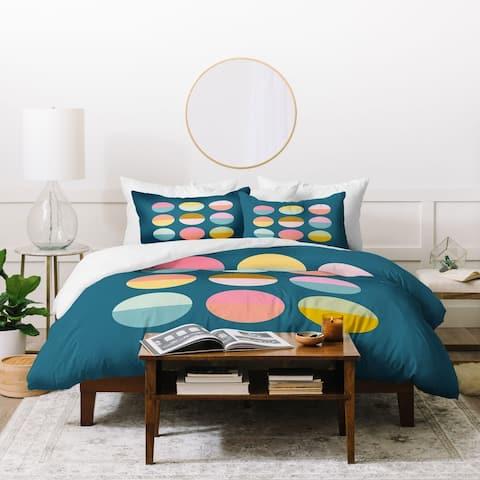 Deny Designs Colorful Circles Duvet Cover Set