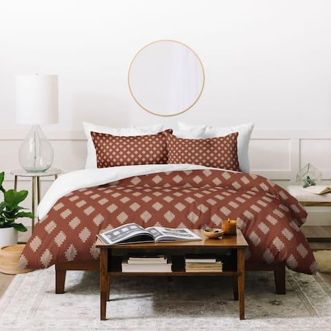 Deny Designs Taos Tile Marsala Duvet Cover Set