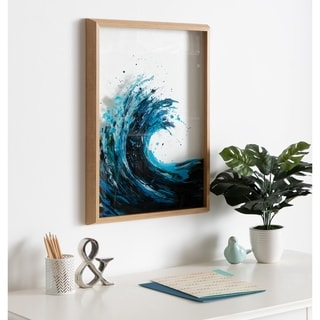 Link to Kate and Laurel Blake Waves Framed Printed Glass Similar Items in Art Prints
