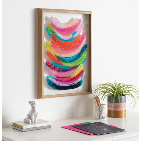 Kate and Laurel Blake Bright Abstract Framed Printed Glass by Ettavee