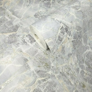 Link to Wallpaper textured blue silver gold metallic cracks faux marble stone Similar Items in Wall Coverings