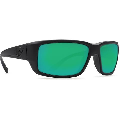 Costa Del Mar Fantail Sunglasses, Blackout Frame, Green Mirror 580 Plastic Lens