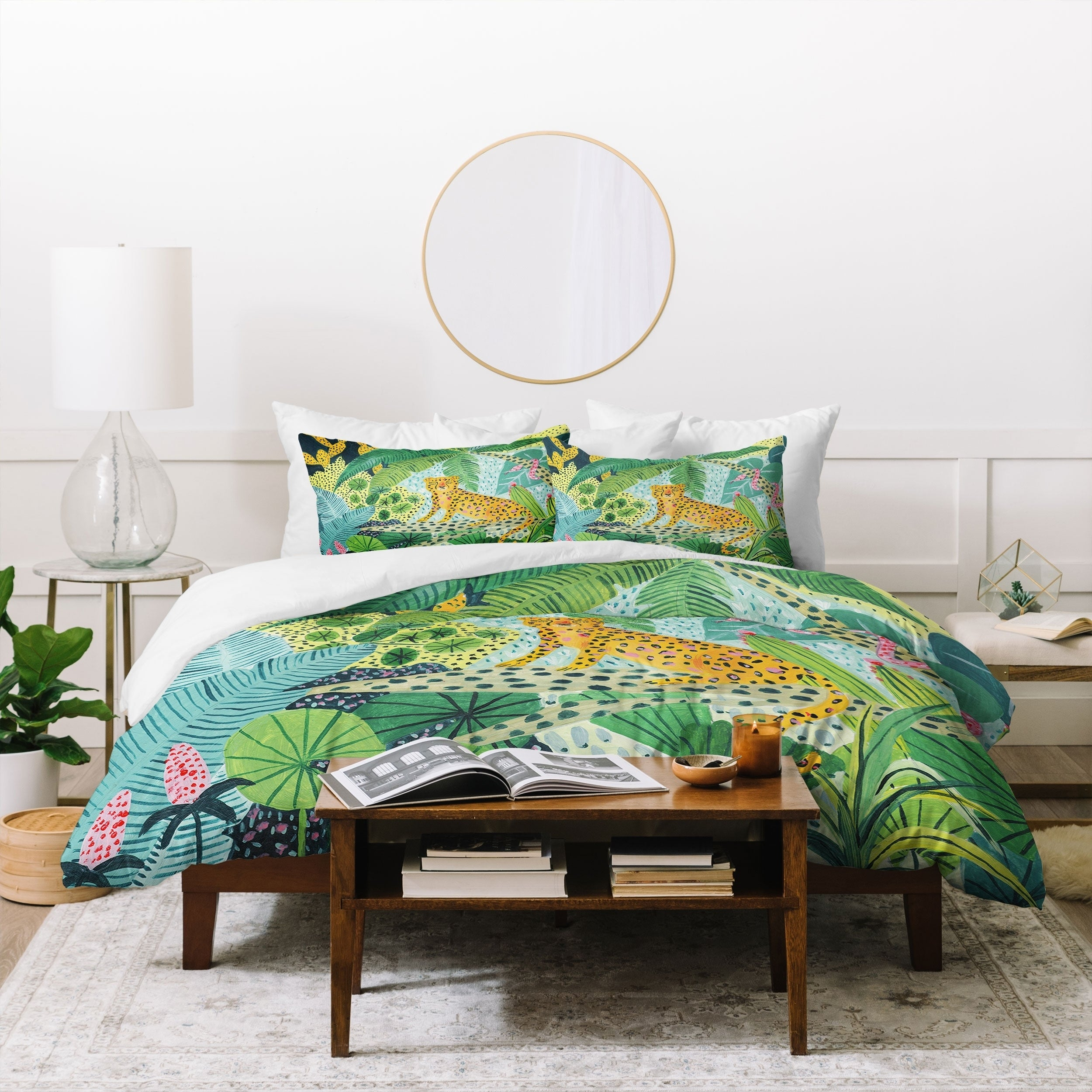 The Curated Nomad Wildling Jungle Leopard Duvet Cover Set On Sale Overstock 30787368