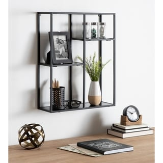 Kate and Laurel Ulna Floating Wall Shelf - 18x6x22