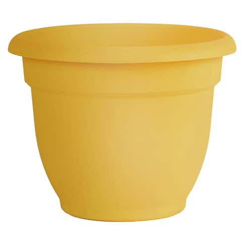 "Bloem Ariana Self Watering Planter 12"" Earthy Yellow - 12"
