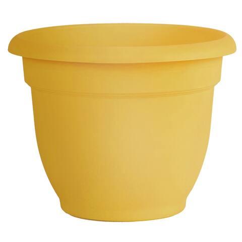 "Bloem Ariana Self Watering Planter 6"" Earthy Yellow - 6"