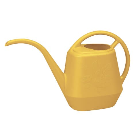 Bloem Watering Can Aqua Rite 1.2 Gal. (144 oz) Earthy Yellow - 1.2 Gal. (144 oz)