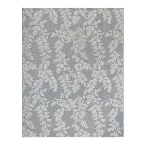 "Laura Ashley Waxham Gray Cream (5'3"" x 7') Area Rug by Gertmenian - 5' x 8'/Surplus"