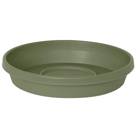 """Bloem Terra Plant Saucer Tray for Planters 17-24"""" Living Green - 17.5"""