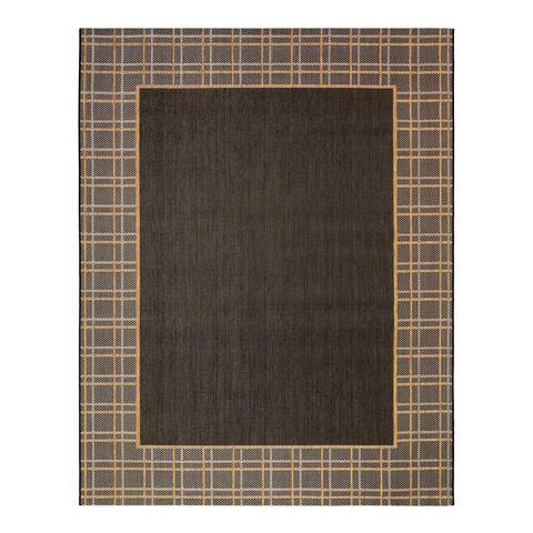"""Laura Ashley Logan Chestnut Black (7'10""""x10') Area Rug by Gertmenian - 8' x 10'/Surplus"""