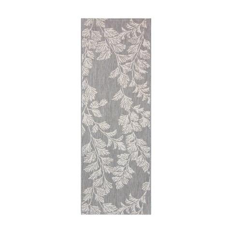 "Laura Ashley Waxham Gray Cream (2'2""x6') Area Rug by Gertmenian - 2' x 6' Runner"