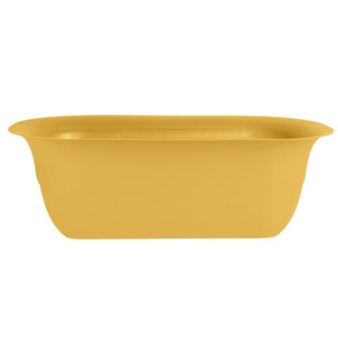 "Bloem Modica Deck Rail Planter 24"" Earthy Yellow - 24"