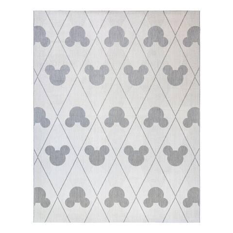 Mickey Mouse Argyle Cream Gray