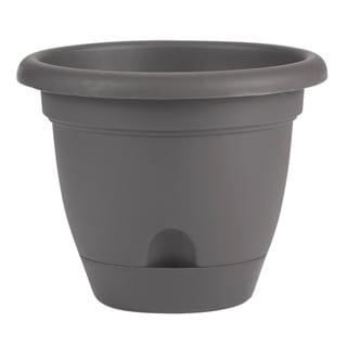 """Link to Bloem Lucca Self Watering Planter w/ Saucer 14"""" Charcoal Gray - 14 Similar Items in Gardening"""