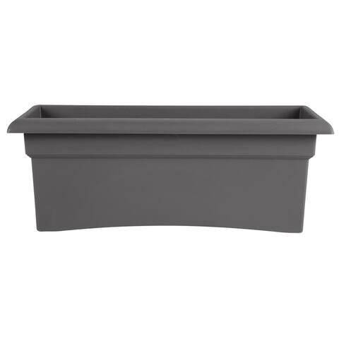 "Bloem Veranda Window Deck Box Planter 26 x 11"" Charcoal Gray - 26 x 11"