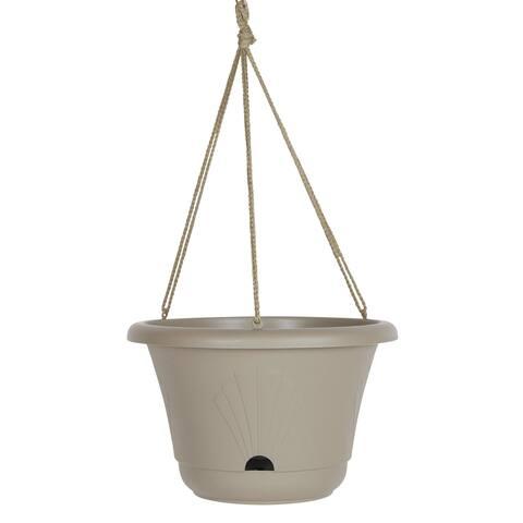 "Bloem Lucca Self Watering Hanging Basket Planter 13"" Pebble Stone - 13"