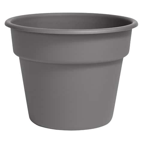 "Bloem Dura Cotta Planter 16"" Charcoal Gray - 16"