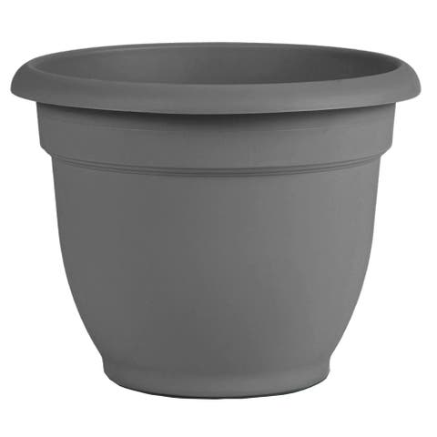 "Bloem Ariana Self Watering Planter 20"" Charcoal Gray - 20"