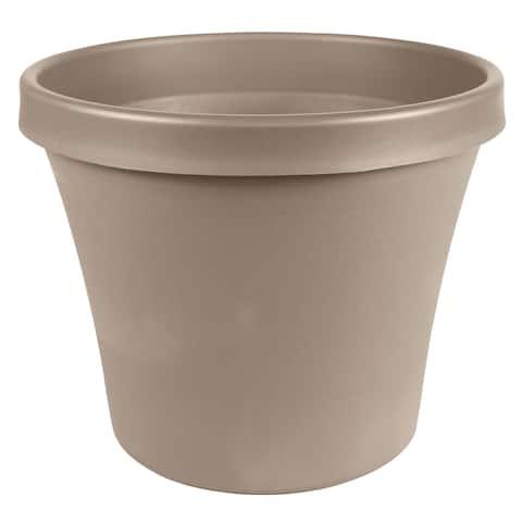 "Bloem Terra Pot Planter 10"" Pebble Stone - 10"