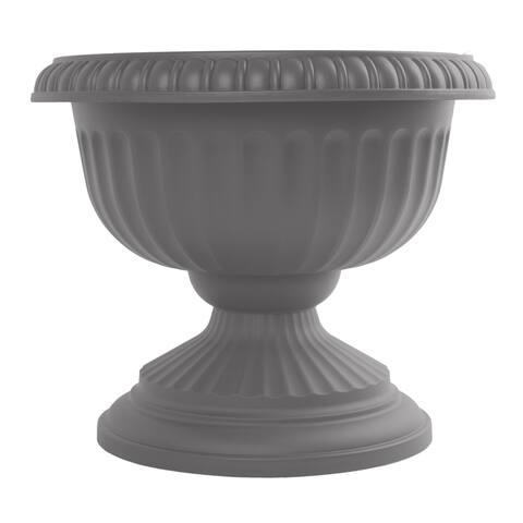 "Bloem Grecian Urn Planter 18"" Charcoal Gray - 18"