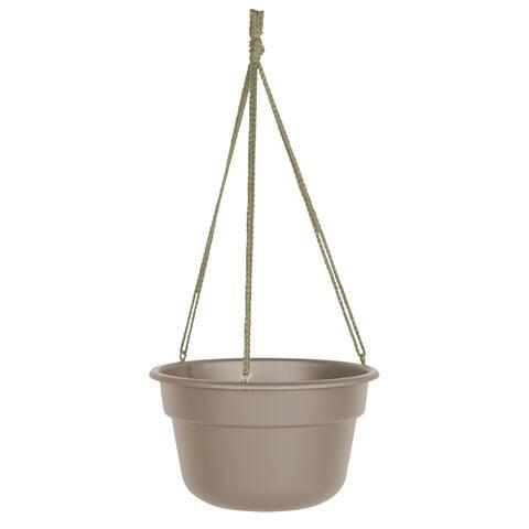 "Bloem Dura Cotta Self Watering Hanging Basket Planter 12"" Pebble Stone - 12"
