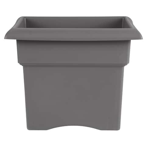 "Bloem Veranda Deck Box Planter Square 18"" Charcoal Gray - 18"