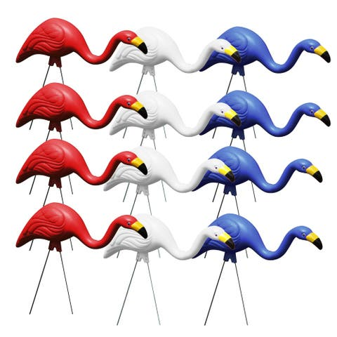 Bloem Red White & Blue American Mingo Flamingo Yard Stakes (12-pack) - 12 Pack