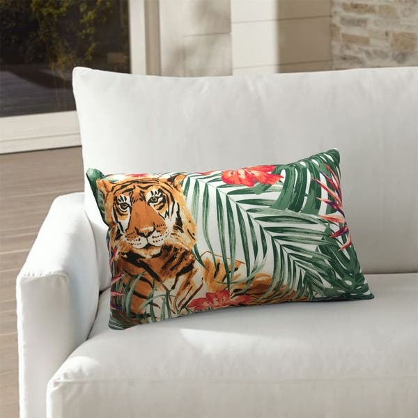 The Curated Nomad Jungle Tiger Throw Pillow On Sale Overstock 30788130